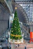 Albero di Natale alla stazione di Kyoto Fotografie Stock Libere da Diritti
