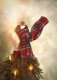 Albero di Natale antiquato Fotografie Stock