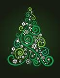 Albero di Natale artistico Fotografia Stock Libera da Diritti