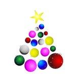 Albero di Natale astratto Fotografie Stock
