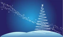 Albero di Natale astratto Illustrazione di Stock
