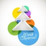 Albero di Natale astratto Immagine Stock
