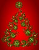 Albero di Natale, astratto Fotografie Stock