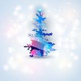 Albero di Natale astratto Immagini Stock