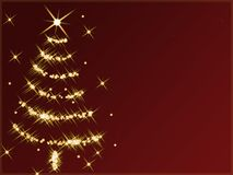 Albero di Natale astratto Fotografia Stock