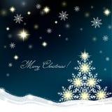 Albero di Natale astratto Immagini Stock Libere da Diritti