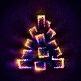 Albero di Natale astratto costruito delle stelle Fotografie Stock Libere da Diritti