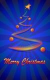 Albero di Natale astratto di incandescenza Fotografia Stock Libera da Diritti