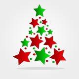 Albero di Natale astratto variopinto Fotografia Stock Libera da Diritti