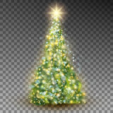 Albero di Natale astratto verde Vettore di ENV 10 Fotografia Stock Libera da Diritti