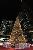 Albero di Natale in aulenti di Gael della piazza immagine stock libera da diritti