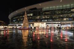 Albero di Natale in aulenti di Gael della piazza fotografia stock libera da diritti