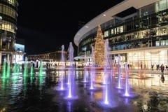 Albero di Natale in aulenti di Gael della piazza fotografie stock libere da diritti