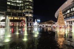Albero di Natale in aulenti di Gael della piazza immagini stock libere da diritti