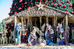 Albero di Natale a Betlemme, Palestina Immagine Stock