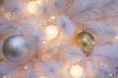 Albero di Natale bianco Fotografia Stock Libera da Diritti