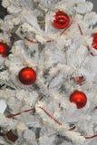 Albero di Natale bianco Immagini Stock
