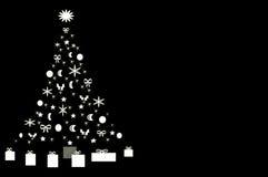 Albero di Natale in bianco e nero Fotografia Stock Libera da Diritti