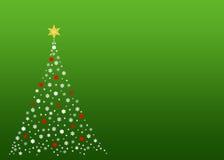 Albero di Natale bianco su verde Fotografie Stock Libere da Diritti