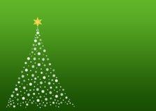 Albero di Natale bianco su verde Immagini Stock Libere da Diritti