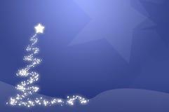 Albero di Natale blu Fotografie Stock