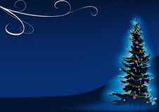 Albero di Natale blu Fotografia Stock Libera da Diritti