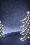 Albero di Natale blu illustrazione di stock