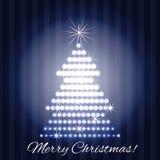 Albero di Natale brillante Fotografie Stock Libere da Diritti