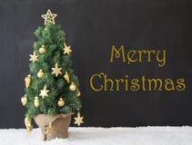 Albero di Natale, Buon Natale, calcestruzzo nero Immagini Stock Libere da Diritti