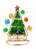 Albero di Natale. candeliere Immagine Stock