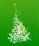 Albero di Natale capriccioso su verde Fotografia Stock Libera da Diritti