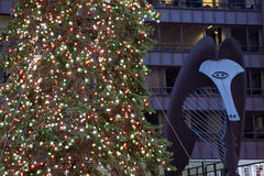 Albero di Natale in Chicago Fotografie Stock