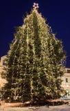 Albero di Natale in città fotografie stock