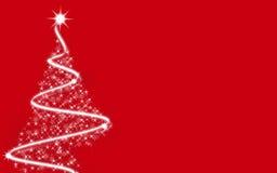 Albero di Natale - colore rosso Fotografia Stock Libera da Diritti