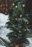 Albero di Natale con bokeh Immagine Stock Libera da Diritti
