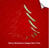 Albero di Natale con le luci Immagine Stock Libera da Diritti