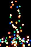 Albero di Natale con gli indicatori luminosi defocused Immagine Stock Libera da Diritti