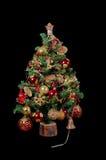 Albero di Natale con gli ornamenti ed i regali 5 immagini stock libere da diritti