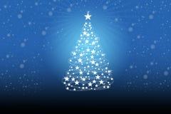 Albero di Natale con i fiocchi di neve bianchi royalty illustrazione gratis