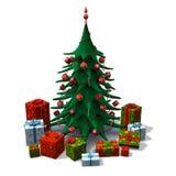 Albero di Natale con i presente Immagine Stock Libera da Diritti