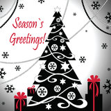 Albero di Natale con i regali Immagine Stock Libera da Diritti