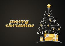Albero di Natale con i regali illustrazione vettoriale