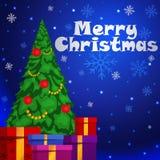 Albero di Natale con i regali Vettore Fotografia Stock Libera da Diritti