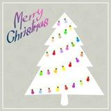 Albero di Natale con il blub di colore Immagini Stock Libere da Diritti
