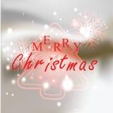 Albero di Natale con il Natale fondo ed il vettore della cartolina d'auguri Royalty Illustrazione gratis