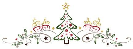 Albero di Natale con il vischio Immagine Stock