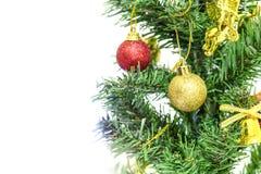 Albero di Natale con l'ornamento Fotografia Stock