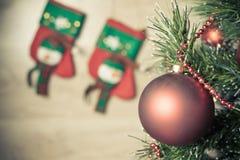 Albero di Natale con la bella decorazione pronta per la festa di natale Immagine Stock Libera da Diritti