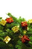 Albero di Natale con la decorazione Immagini Stock Libere da Diritti
