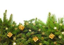 Albero di Natale con la decorazione Fotografie Stock
